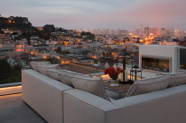 20 Rooftop Terrace Fireplace And Fire Pit Design Ideas To Relax And