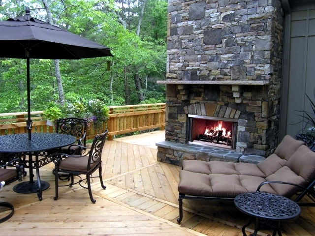 Fireplace in the garden construction u2013 24 ideas for a refined