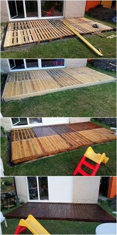 Pallet Wood Deck Plans | Home Improvement | Pinterest | Pallet