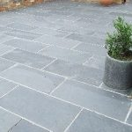 Terrace slabs of bluestone