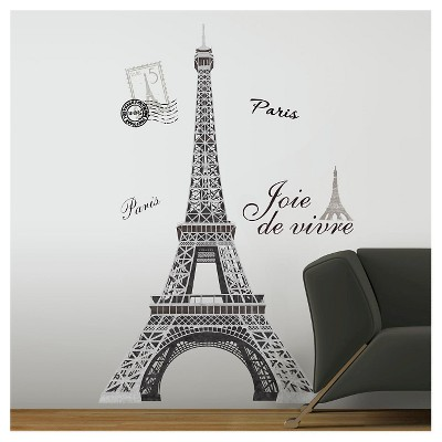 RoomMates Eiffel Tower Peel & Stick Giant Wall Decal : Target
