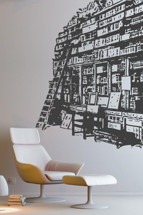 Wall Decals Book Shelf- WALLTAT.com Art Without Boundaries