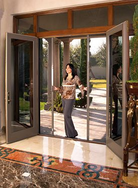 Retractable Door Screens for French, Entry, and Sliding Doors | Home