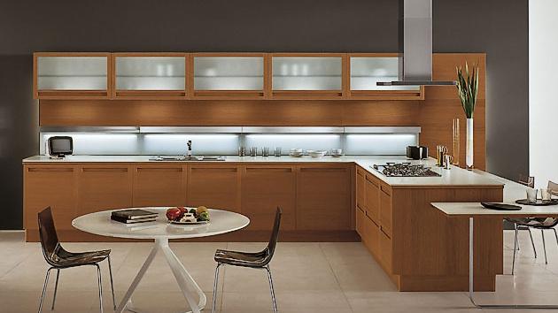 20 Sleek and Natural Modern Wooden Kitchen Designs   Home Design Lover