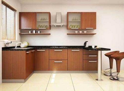 Modular Wooden Kitchen By Ads Modulars Furnitures   WFM