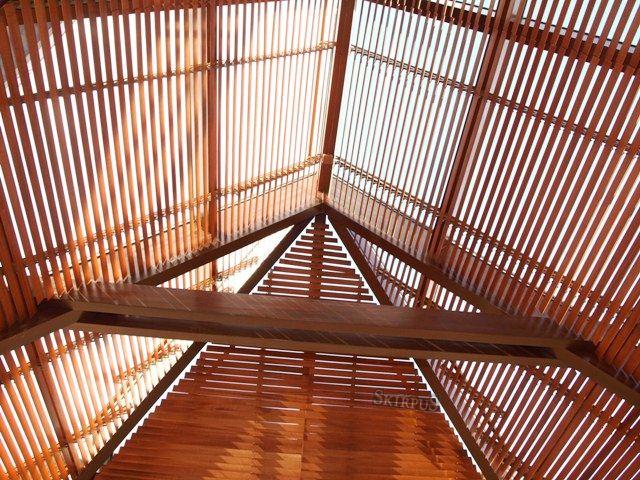 Skirpus sunshield wooden blinds for winter garden | Skirpus wooden