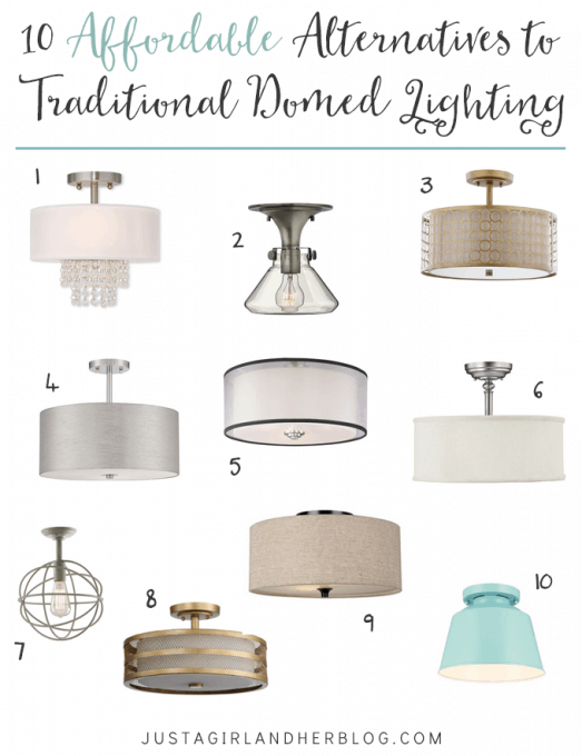 10 Affordable Alternatives to Traditional Domed Lighting | Abby Lawson