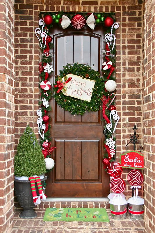 Top 40 Christmas Door Decoration Ideas From Pinterest - Christmas
