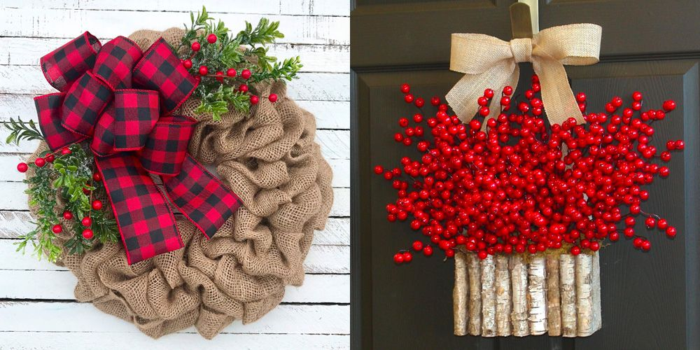 15 Best Christmas Door Decorations - How to Decorate Your Door for