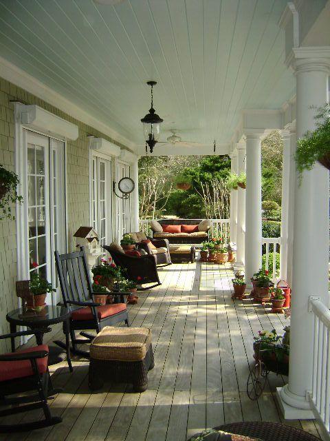 Southern Front Porch Eddie Rider Designs in 2019 | Architecture