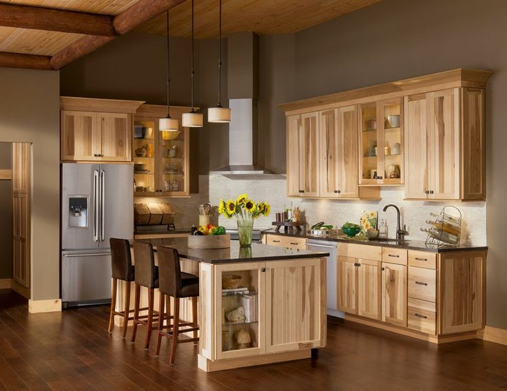10 Amazing Modern Hickory Kitchen Cabinets for Your Home Design