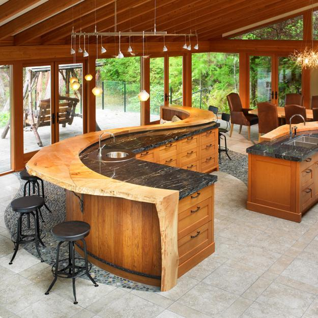 Amazing Wood Kitchen Countertop Ideas Adding Exotic Look to Modern