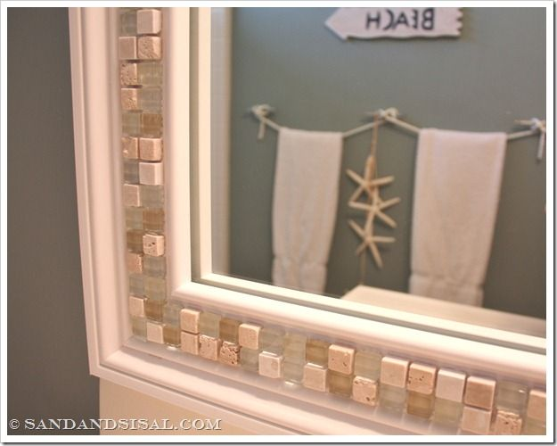 How to Decorate a Mirror with Tile | Decorating, Bath and House