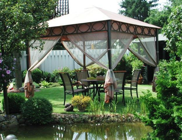 25 Metal Gazebo Designs and Great Outdoor Furniture Placement Ideas