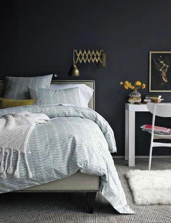 Bedroom Designs With Dark Wall 1