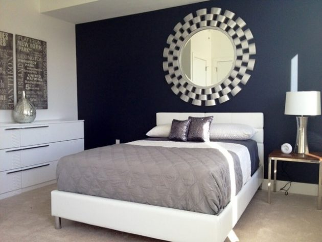 Bedroom Designs With Dark Wall 7