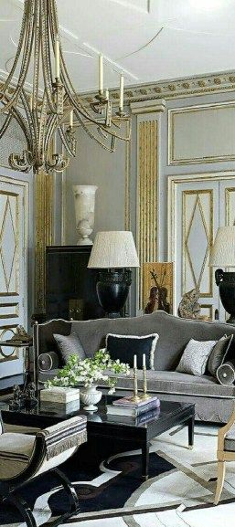 Luxurious Black And Gold Dining Room Ideas For Inspiration 13