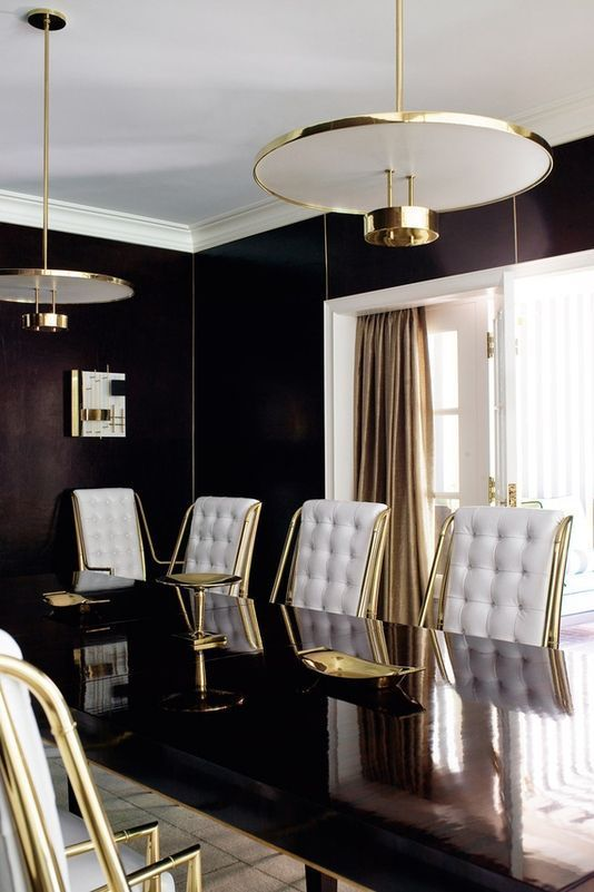 41 Luxurious Black And Gold Dining Room Ideas For Inspiration
