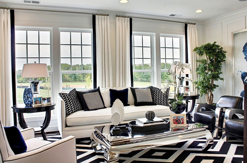 Black And White Living Rooms Design Ideas