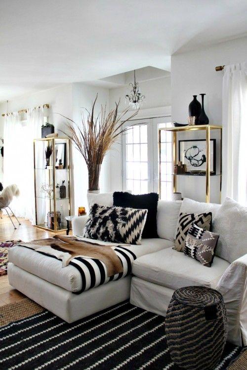 Black White Livingroom Ideas
