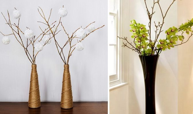Ideas to decorate with dry branches - Bixideco.com