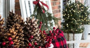 Festive & Frugal Christmas Porch Decor | On Sutton Place Christmas