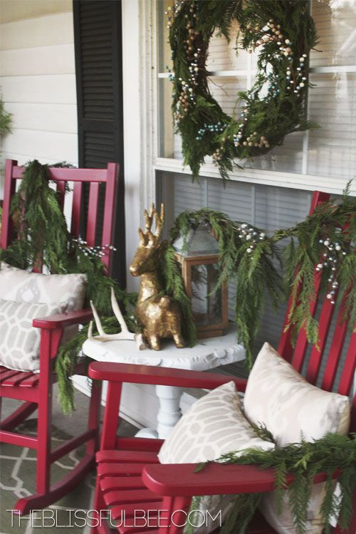 104 best Christmas Porch images on Pinterest | Merry christmas love