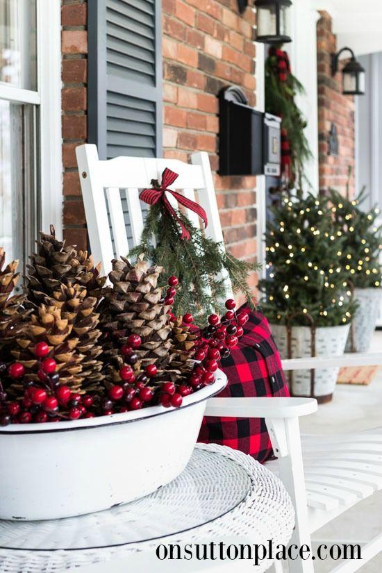Christmas Farmhouse Porch Decor