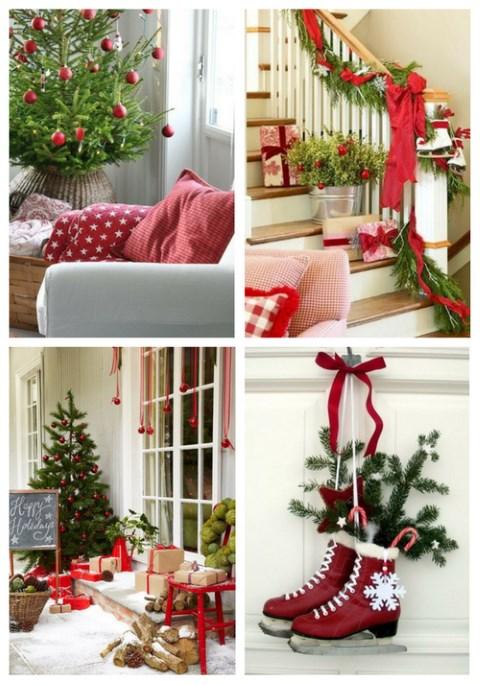 Red And Green Christmas Home Decor Ideas | ComfyDwelling.com