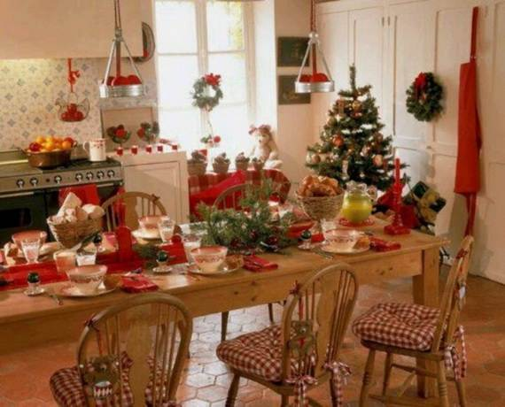 50 Cozy Christmas Kitchen Décor Ideas - family holiday.net/guide to