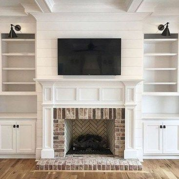 38 Stunning Clad Cover Fireplace Ideas | New house | Home fireplace