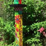 Colorful Peace Poles Design Ideas For Garden
