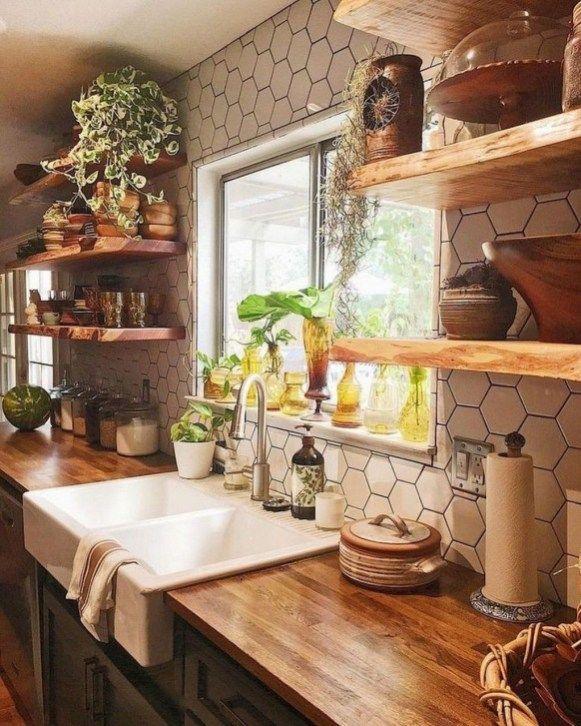 45 Comfy Farmhouse Kitchen Design Ideas   Farmhouse kitchen design