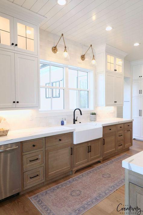 41 Comfy Farmhouse Kitchen Ideas   Kitchen Design Ideas   Pinterest