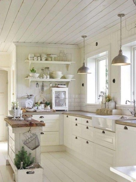 38 Comfy Farmhouse Kitchen Decor Ideas   My Country Home   Country