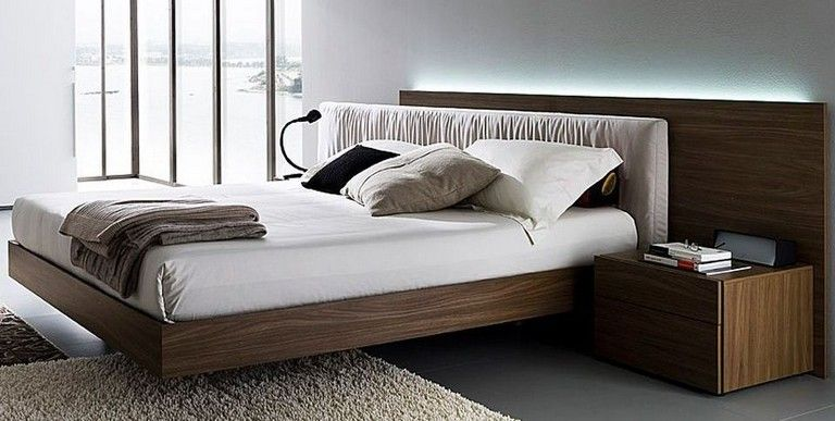 35 Good Contemporary Floating Bed Design Ideas | Bedroom | Bed
