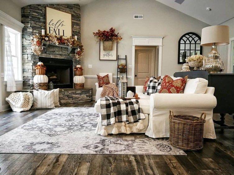 47 Cool Dreamy Christmas Living Room Decor Ideas | Home Decor