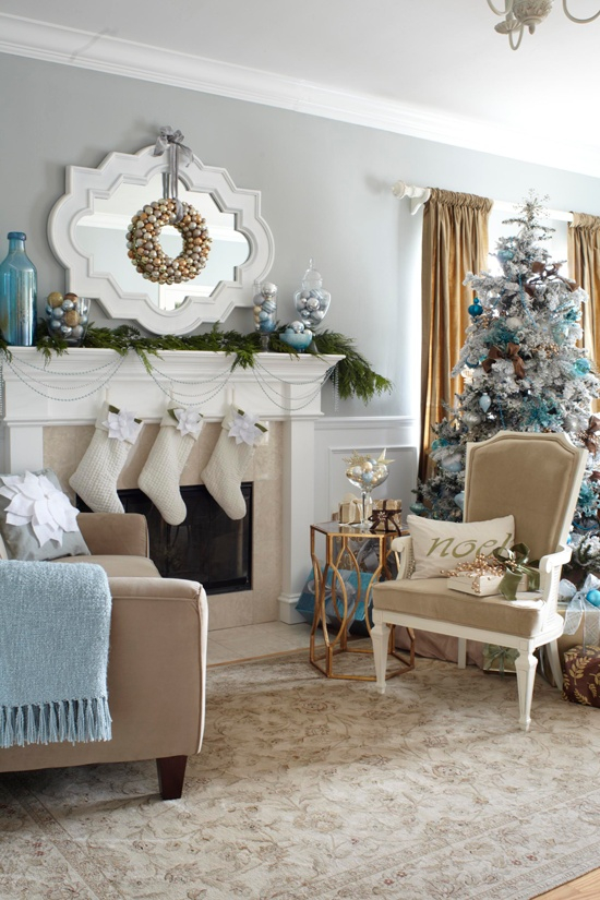 Living Room Christmas Decoration Ideas as well as 55 Dreamy