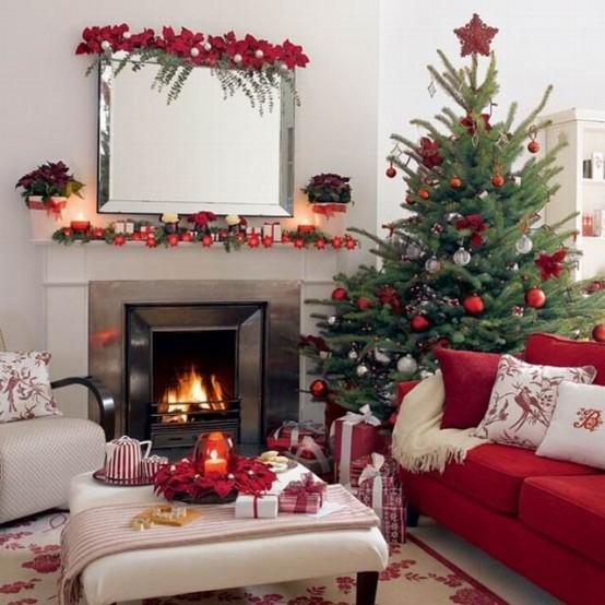 Cool Dreamy Christmas Living Room Decor Ideas