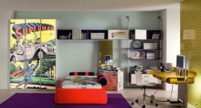 Cool Superhero Themed Room Decoration Design