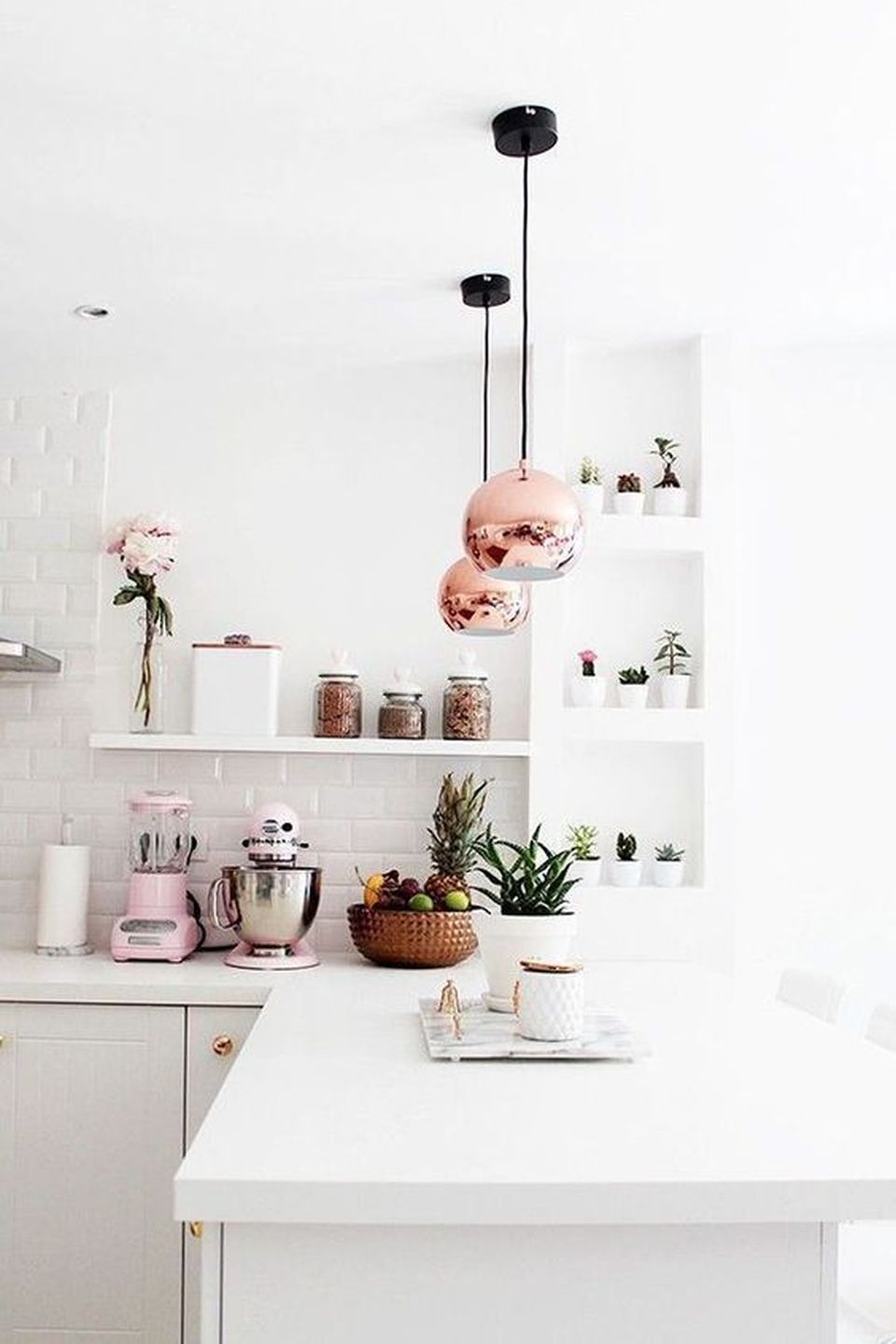 70 Majestic Copper and Rose Gold Kitchen Themes Decorations - DecOMG