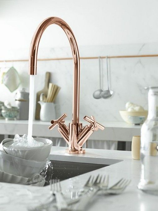 30+ Inspiring Copper Rose Gold Kitchen Themes Decorations | Kitchen