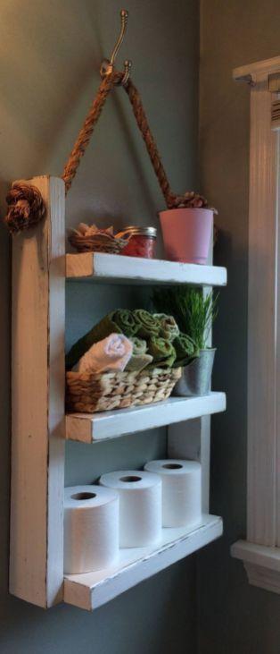 Rustic Country Bathroom Shelves Ideas 21 #CountryBathrooms | Country