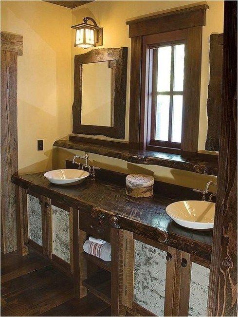 40 Amazing Country Mirror Bathroom Decor Ideas | Bathroom Mirrors