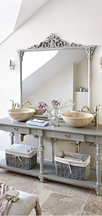 Gorgeous Grays ○ Bathroom | Bathroom Inspiration | Chic bathrooms