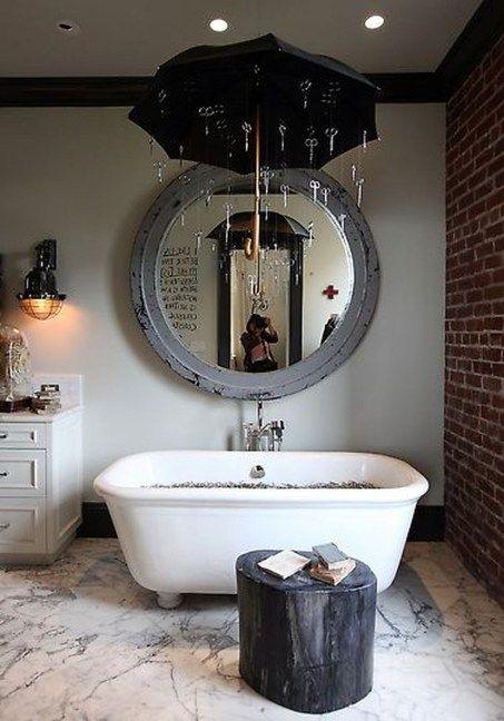 Country Mirror Bathroom Decor Ideas