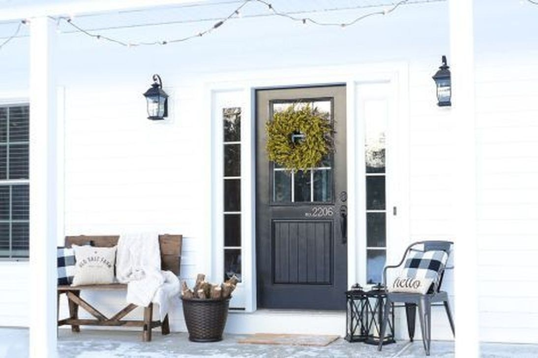 48 Hottest Country Winter Decoration Ideas - HOMAHOMY