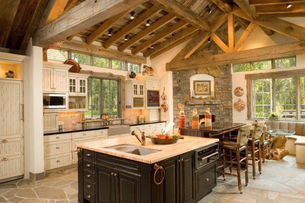 15 Warm & Cozy Rustic Kitchen Designs For Your Cabin | KITCHENS