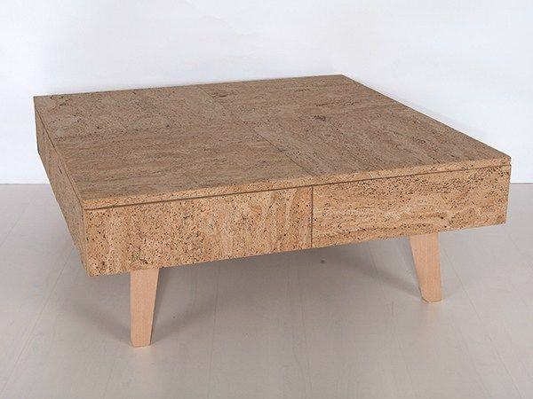 Square cork coffee table CCK 450 by Creative Cork - Manuel.J