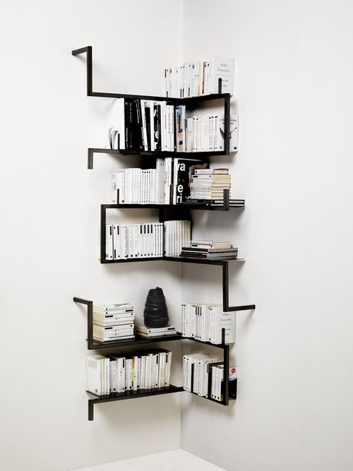 DIY Idea: Build a Minimal Corner Book Shelf | DIY Decor Ideas